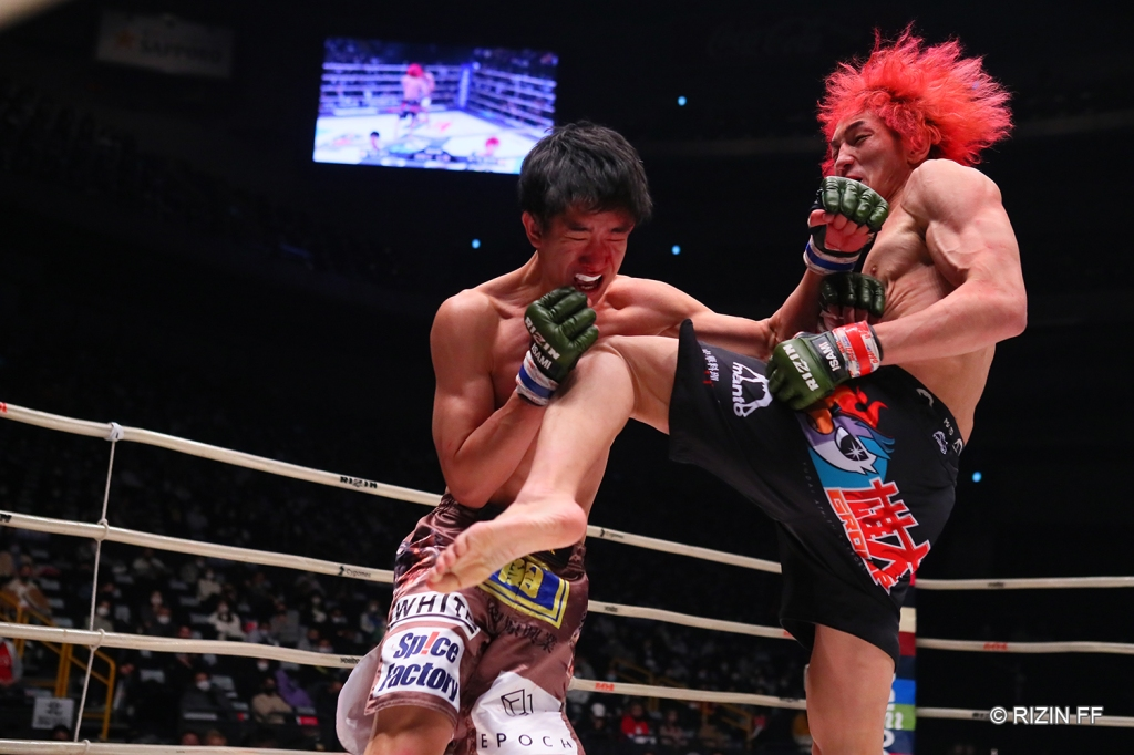 Ulka Sasaki earned a decision win in his return to action (© RIZIN FF)