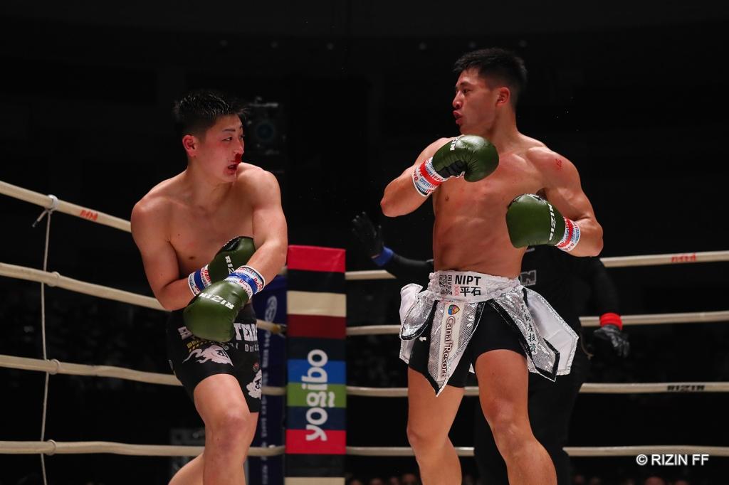 TAIGA and Kanta Motoyama exchange punches